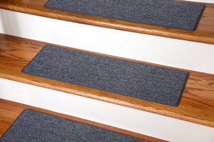 "Dean DIY Carpet Stair Treads - Stingray Gray 27"" x 9"" - Set of 13 Plus Double-Sided Tape"
