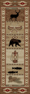 "Dean River Camp Bear Lodge Cabin Bear Carpet Runner Rug Size: 2'3"" x 7'7"""