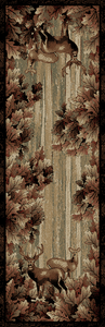 "Dean Whitetail Woods Lodge Cabin Deer Runner Rug 2'3"" x 7'7"""