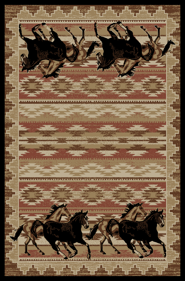 Dean Lodge King Untamed Horses Area Rug 7 10 Quot X 9 10 Quot