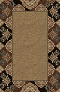 "Dean Lodge King Tapestry Black Rustic Western Lodge Cabin Ranch Area Rug Size: 5'3"" x 7'3"""