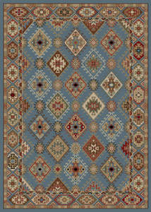 "Dean Lodge King Arrowrock Blue Rustic Southwestern Lodge Cabin Ranch Area Rug Size: 7'10"" x 9'10"""