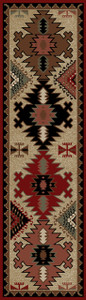 "Dean Durango Lodge Cabin Western Ranch Runner Rug 2'3"" x 7'7"""
