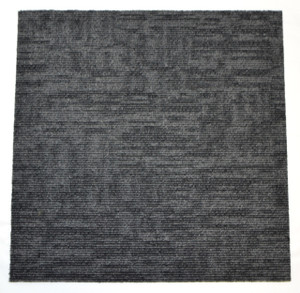 "DIY Carpet Tile Squares - Carbonized Black - 24"" x 24"" Box of 12 (48 sf)"