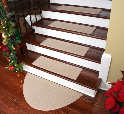 dean non slip tape free pet friendly carpet stair treads rugs plus half circle landing mat color cream outdoor lowes for dogs l