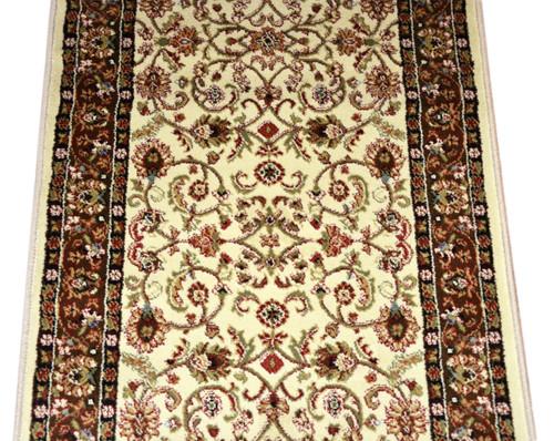 Dean Classic Keshan Ivory Mocha Custom Length Carpet Rug Runner