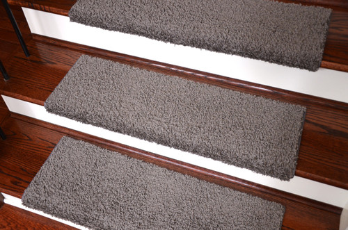 Dean Premium Pet Friendly Tape And Adhesive Free Non Slip Bullnose Carpet Stair  Treads   Dynasty Gray (3)