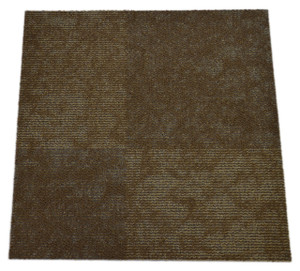Dean DIY Carpet Tile Squares - Freeform Brown Patterned - 48 SF Per Box -12 Pieces Per Box