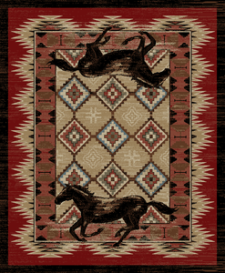 "Dean Lexington Rustic Southwestern Lodge Horse Cabin Ranch Area Rug Size: 5'3"" x 7'3"""