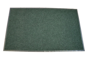Dean Affordable Indoor/Outdoor Ribbed Carpet Entrance Mat/Rug with Rubber Border, Size: 3'x5', Color: Dark Green