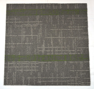 Dean DIY Carpet Tile Squares - Gray & Green Patterned - 48 SF Per Box -12 Pieces Per Box