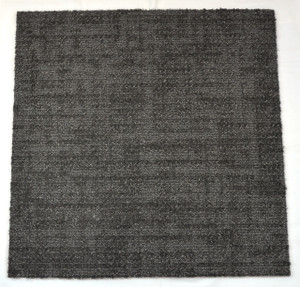Dean DIY Carpet Tile Squares - Platinum Gray Patterned - 48 SF Per Box -12 Pieces Per Box