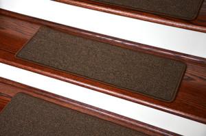Dean Washable Non Slip Carpet Stair Treads   Urban Legend Brown   Set Of 15