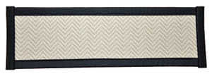 "Dean Non-Slip Tape Free Pet Friendly Dog Helper Stair Gripper Hatteras Flatweave Carpet Stair Treads - Chevron Seashell/Black 29""W (15)"