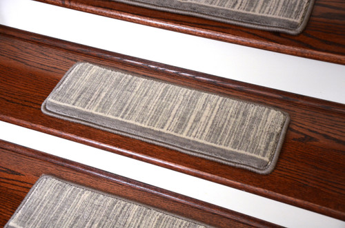 Dean Tape Free Pet Friendly Ultra Premium Wool Non Slip Stair Gripper  Carpet Stair Treads   Cottage Garden Hazy Day Gray (Set Of 15) 23 Inches By  8 Inches ...