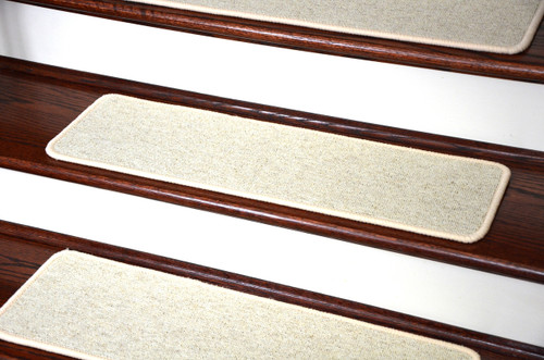 Dean Tape Free Pet Friendly Premium Wool Non Slip Stair Gripper Carpet Stair  Treads   Shetland Ivory (Set Of 15) 23 Inches By 8 Inches Each