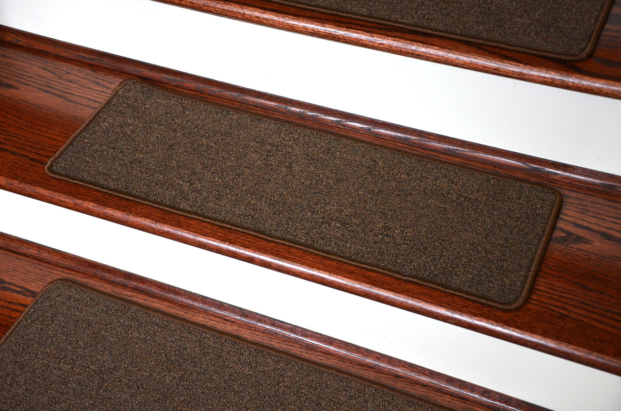 Dean Washable Non Slip Carpet Stair Treads   Urban Legend Brown   Set Of 15  Pieces, 30 Inches By 9 Inches Each