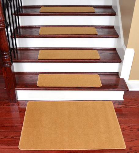 Nice Dean Washable Non Slip Nylon Carpet Stair Treads   Gold Coast   Set Of 15  Pieces, 27 Inches By 9 Inches Each Plus A Matching 2 Foot By 3 Foot Landing  Mat