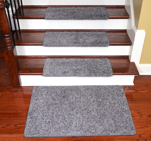 Superior Dean Modern DIY Peel And Stick Bullnose Wraparound Non Skid Carpet Stair  Treads   Eiffel Tower Gray 30 Inches Wide(15) Plus A Matching 2 Foot By 3  Foot ...