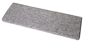 Dean Premium Pet Friendly Tape and Adhesive Free Non-Slip Bullnose Carpet Stair Treads - Dakota Fossil Gray (3)