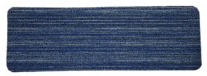 Dean Affordable Non-Skid DIY Peel & Stick Carpet Stair Treads - Color: Clever Intellect Blue & Gray - Set of 15