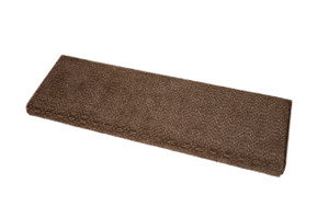 Dean Premium Pet Friendly Tape & Adhesive Free Non-Slip Bullnose Carpet Stair Treads - Luxor Brown