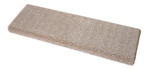 Dean Premium Pet Friendly Tape & Adhesive Free Non-Slip Bullnose Carpet Stair Treads - Luxor Beige