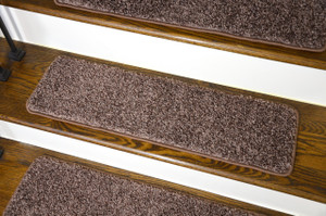 Dean Washable Non Slip Carpet Stair Treads   Fresh Coffee Brown   Set Of 15