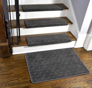 Dean Modern DIY Premium Tape Free Pet Friendly Bullnose Non Skid Carpet Stair  Treads/