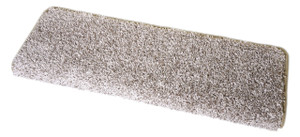 "Dean Modern DIY Peel and Stick Bullnose Wraparound Non-Skid Carpet Stair Treads - Macadamia Beige 30""W (15)"