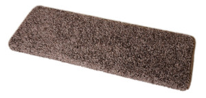 "Dean Modern DIY Peel and Stick Bullnose Wraparound Non-Skid Carpet Stair Treads - Fresh Coffee Brown 30""W (15)"