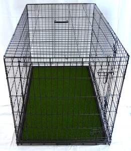 Dean Artifical Turf Green Grass Dog Crate Tray Mat with Non-slip Rug Pad for 48 Inch x 30 Inch x 32.5 Inch Crates