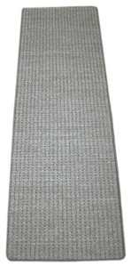Dean Pet Friendly Natural Boucle Slate Gray Premium Nylon 2' x 6' Bound Carpet Mat/Runner Rug