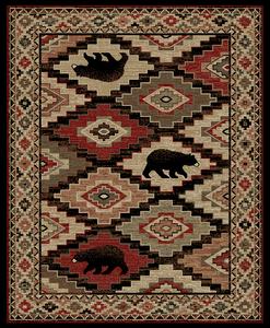 "Dean Boone Lodge Cabin Bear Southwestern Area Rug 5'3"" x 7'3"" (5x8)"