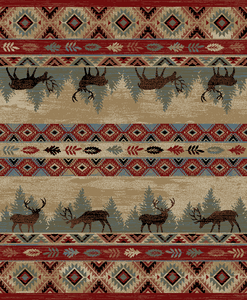 "Dean Elk Springs Lodge Cabin Southwestern Area Rug 7'10"" x 9'10"" (8x10)"
