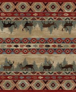 "Dean Elk Springs Lodge Cabin Southwestern Area Rug 5'3"" x 7'3"" (5x8)"