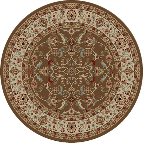 Dean Classic Keshan Chocolate Brown Oriental Area Rug 7 10