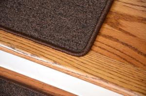 "Dean Serged DIY Carpet Stair Treads 27"" x 9"" - Dark Brown - Set of 13"