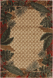 "Dean Coastal Living Harbor Bay Rainforest Ruby Area Rug 5'3"" x 7'10"" (5x8)"