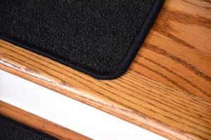 "Dean Serged DIY Carpet Stair Treads 27"" x 9"" - Midnight Black - Set of 13"
