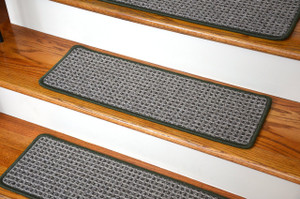 Washable Non-Skid Carpet Stair Treads - Chameleon (15)