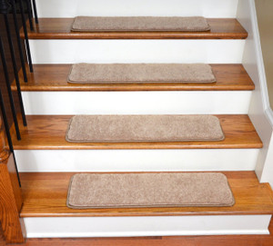 "Dean Ultra Premium Stair Gripper Non-Slip Tape Free Pet Friendly DIY Carpet Stair Treads/Rugs 30"" x 9"" (15) - Color: Angelic Tan"