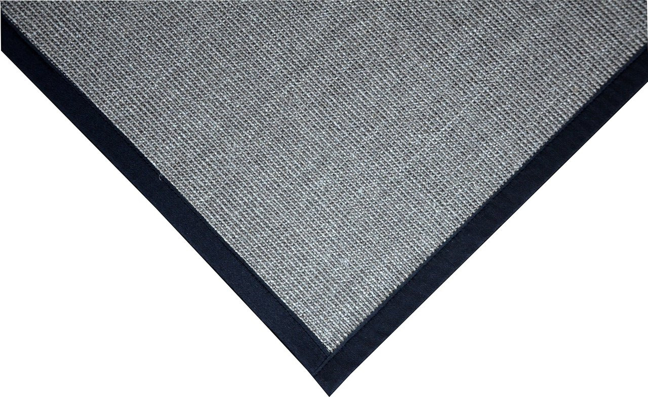 Natural Sisal Foyer Rug Grey Black Dean Flooring Co