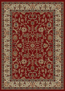 "Dean Classic Keshan Claret Red Oriental Area Rug 5'3"" x 7'7"" (5x8)"