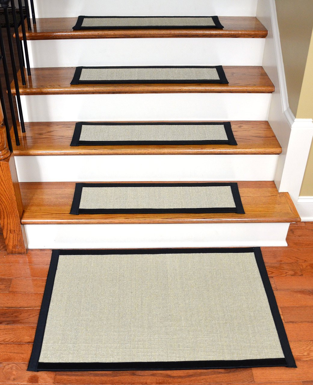 Sisal stair treads with matching landing mat 29 x 9 - Rugs and runners to match ...