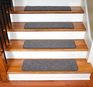 "Dean Premium Stair Gripper Tape Free Non-Slip Pet Friendly DIY Carpet Stair Treads 30""x9"" (15) - Dynasty Gray"