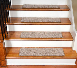 "Dean Premium Stair Gripper Tape Free Non-Slip Pet Friendly DIY Carpet Stair Treads 30""x9"" (15) - Safari Beige"