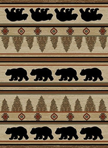 "Dean Appalachian Mountain Bear Lodge Cabin Area Rug Size: 7'10"" x 9'10"" (8x10)"