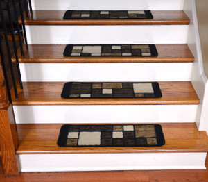 Dean Washable Non-Skid Carpet Stair Treads - Hop Scotch Chocolate