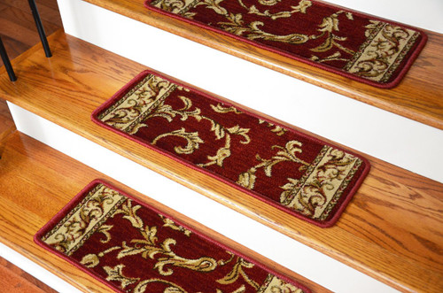 Dean Premium Carpet Stair Treads Red Scrollworks 13